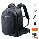 K&F Concept Camera Backpack Rucksack Waterproof with Rain Cover for 13.3'' laptop for Men/Women DSLR Camera Accessories Cleaning Kit Memory Card for Canon Nikon