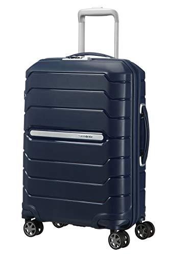 Samsonite Flux - Spinner S Expandable Hand Luggage, 55 cm, 44 L, Blue (Navy Blue)