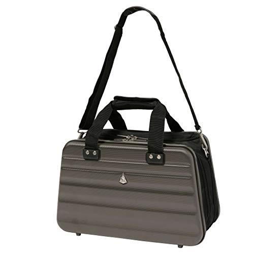 Aerolite Ryanair Maximum Size 40x20x25cm Hand Cabin Luggage Hard Shell Travel Carry On Holdall Shoulder Under Seat Flight Bag 40x20x25 Charcoal