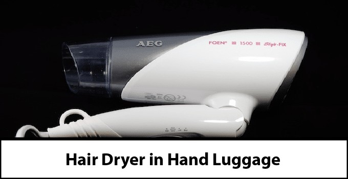 Hairdryer in Hand Luggage