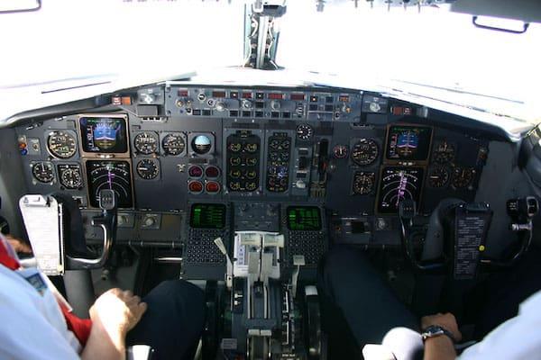 Laudamotion Cockpit