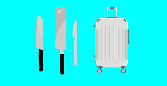 Kitchen Knives in Checked Luggage