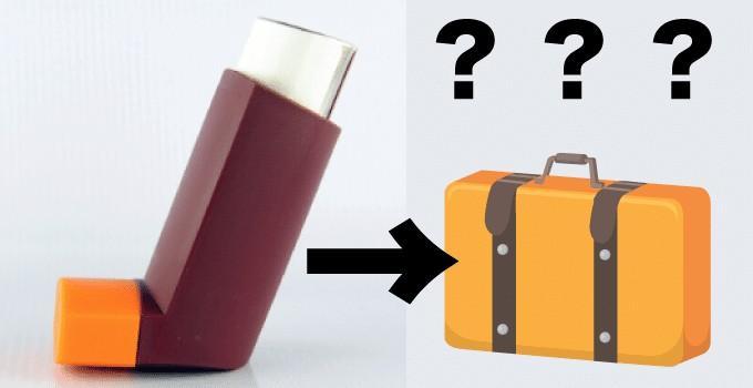 Asthma Inhaler in Hand Luggage